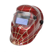 MX-7 Auto Darkening Welding Helmet with red cobweb
